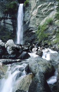 Wasserfall bei Gortipohl im Montafon in Oesterreich
