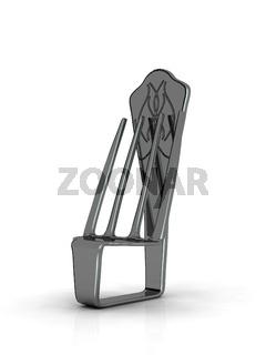 Stuhl aus einer gebogenen Gabel