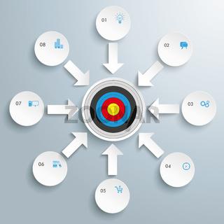Circle 8 Arrows Circles Target PiAd
