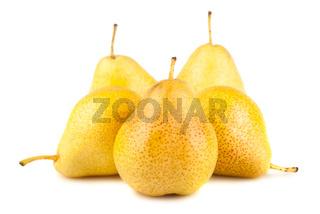 Yellow ripe pears