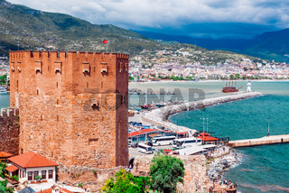 Kizil Kule (Red Tower) is a historical tower in the Turkish city of Alanya