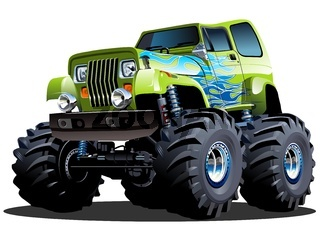 Cartoon Monster Truck