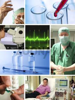 Gesundheitswesen Collage