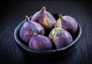 Figs on wooden table