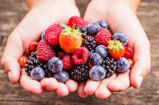 Berries in hands