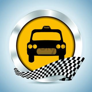Metallic taxi badge design