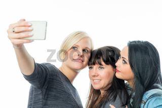 3 mädchen machen selfie