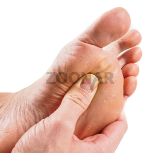 Male person receiving podiatry