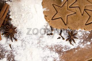Preparing gingerbread cookies for christmas