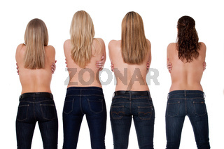 4 backs and jeans