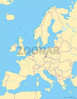 Europa politische Landkarte