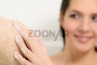 Young woman enjoying a relaxing bath