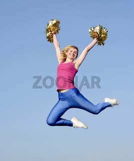 cheerleader jubelt