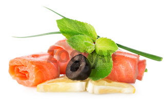 Fish with olives and lemon
