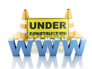 Website under construction concept. 3d illustration