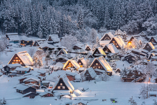 Shirakawago light-up
