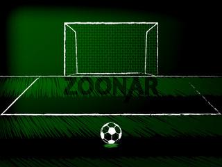 Soccer free kick theme
