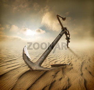 Anchor in desert