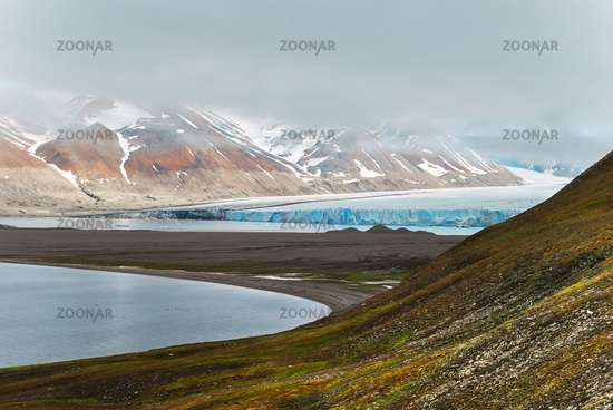 Gletscher auf Spitzbergen, Norwegen