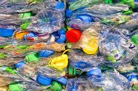 Zerdrückte PET-Flachen Crushed PET-bottles