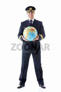 The pilot of a globe