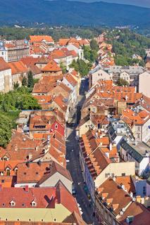 Zagreb Radiceva street aerial view
