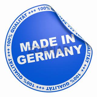 3D Aufkleber Blau - 100% Qualität made in Germany