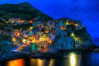 Manarola (Cinque Terre) bei Nacht, Italien