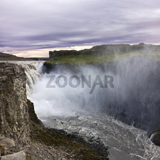 Famous Dettifoss is a waterfall of Iceland