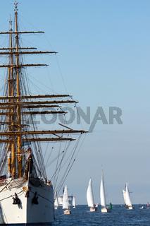 sailing ships (worldwide parade of sailing ships in Warnemünde - Rostock, Germany)