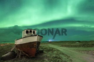 Polarlichter über den Lofoten