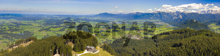 rural panorama landscape in Bavaria