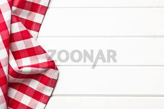 checkered napkin