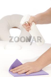 Desinfektion Massageliege