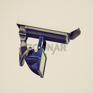 Retro look CCTV closed circuit tv surveillance camera