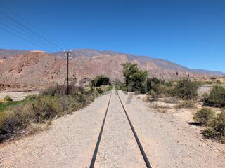 Railway heading north through Quebrada del Toro