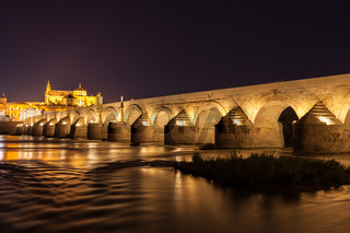 Cordoba Bridge during night
