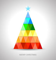 Original christmas tree design in rainbow colors