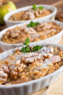 Apple Walnut streusel cake