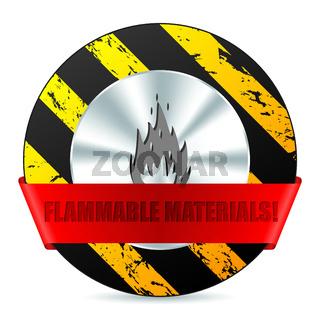 Flammabile material warning sign