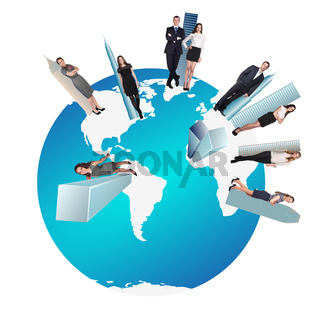 Concept of global business team