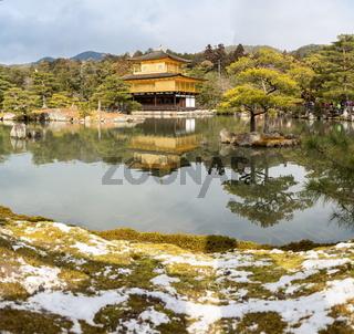 Kinkakuji Temple Snow