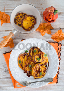 traditional Polish pumpkin yeast pancakes (Racuchy)