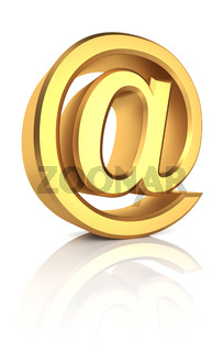3D Gold Email Sign