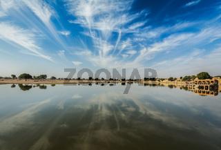 Gadi Sagar - artificial lake. Jaisalmer, India