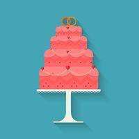 Wedding cake style flat