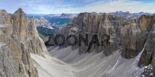 panorama landscape at dolomites