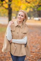 Smiling Pretty Woman in Brown Fashion Outfit