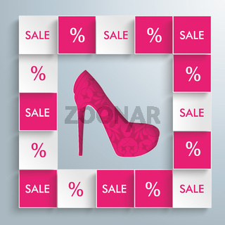 Colored Squares High Heels Infographic