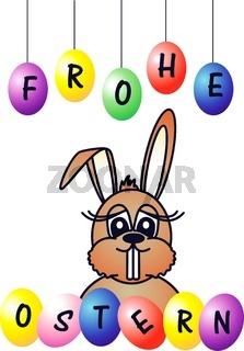 Lustiger Osterhase / Frohe Ostern